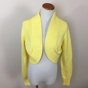 LILLY PULITZER Yellow Knit Sweater Shrug Sz Large